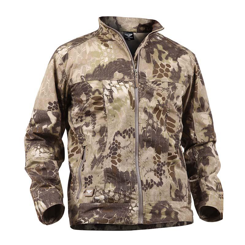 MILE Мужская ветрозащитная армейская куртка на замке