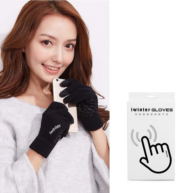 MILE Женские перчатки из флиса для сенсора осень-зима