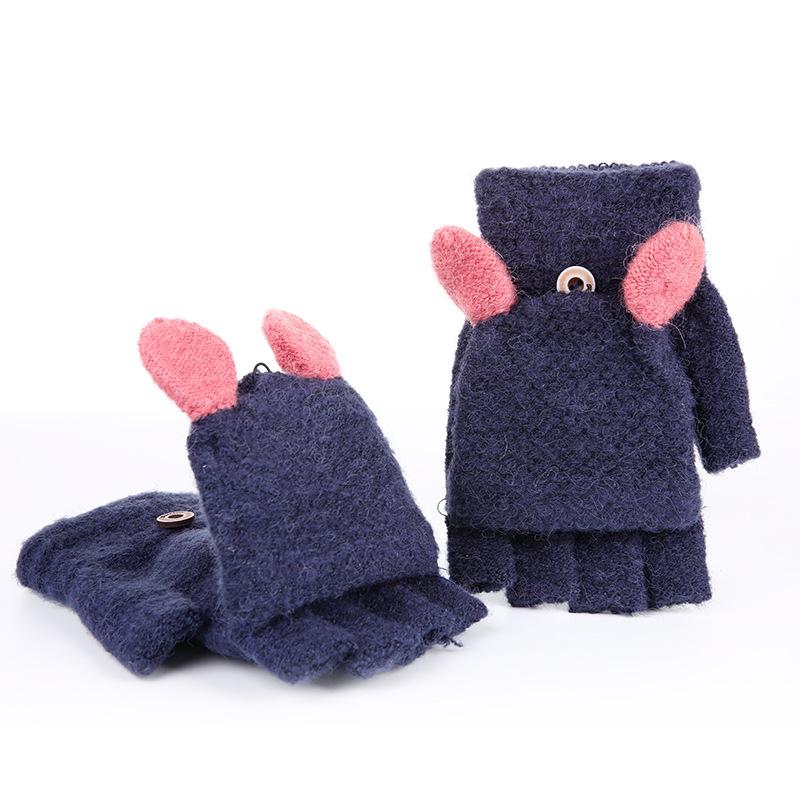 Фритюрница MILE Женские кашемировые перчатки без пальцев (Фото 2)