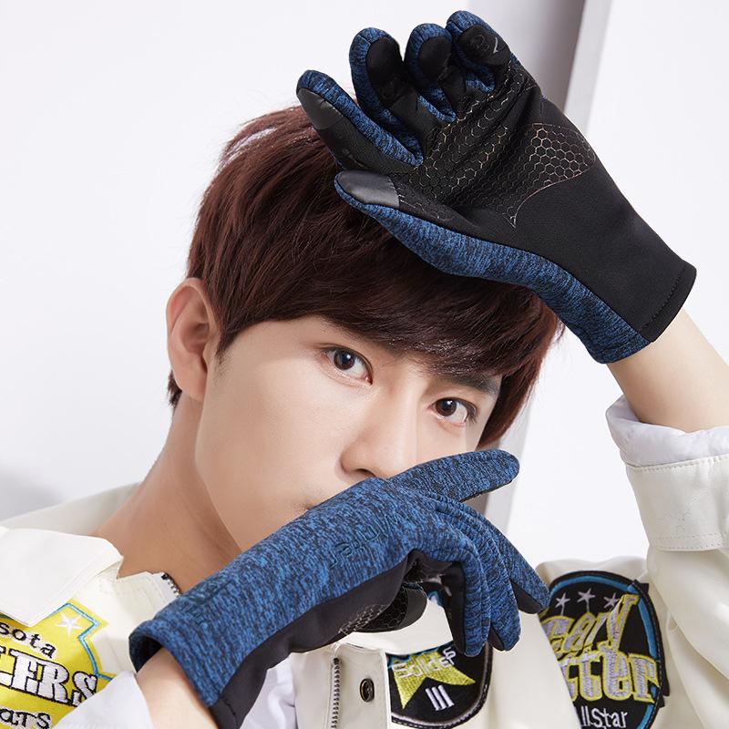 Фритюрница MILE Зимние спортивные антискользящие перчатки из флиса (Фото 3)