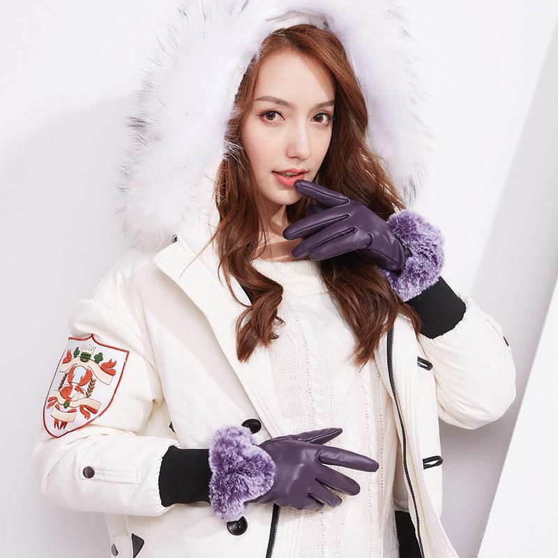 Фритюрница MILE Зимние перчатки из ПУ-кожи (Фото 6)