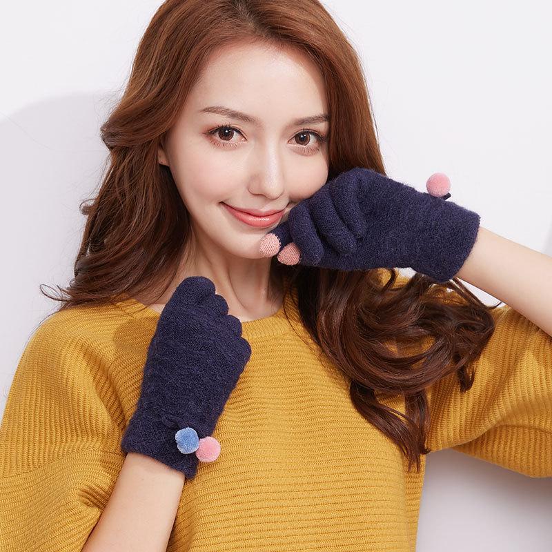 Фритюрница MILE Женские перчатки стрейч для сенсора (Фото 6)