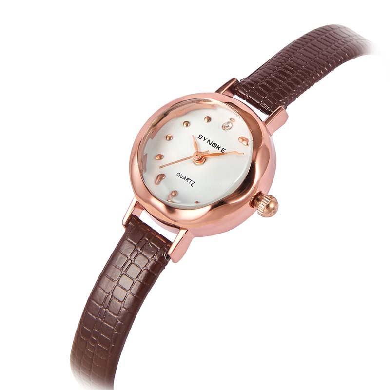 Часы Женские кварцевые наручные часы с кожаным ремешком (Photo 6)