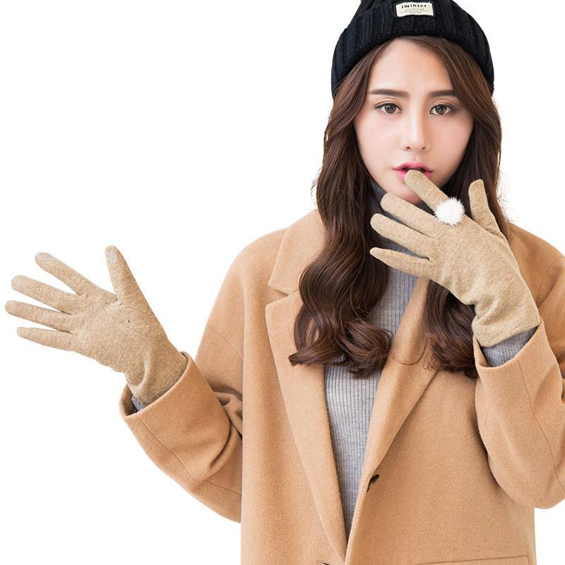 Фритюрница MILE Женские зимние перчатки для сенсора из меха кролика (Фото 5)