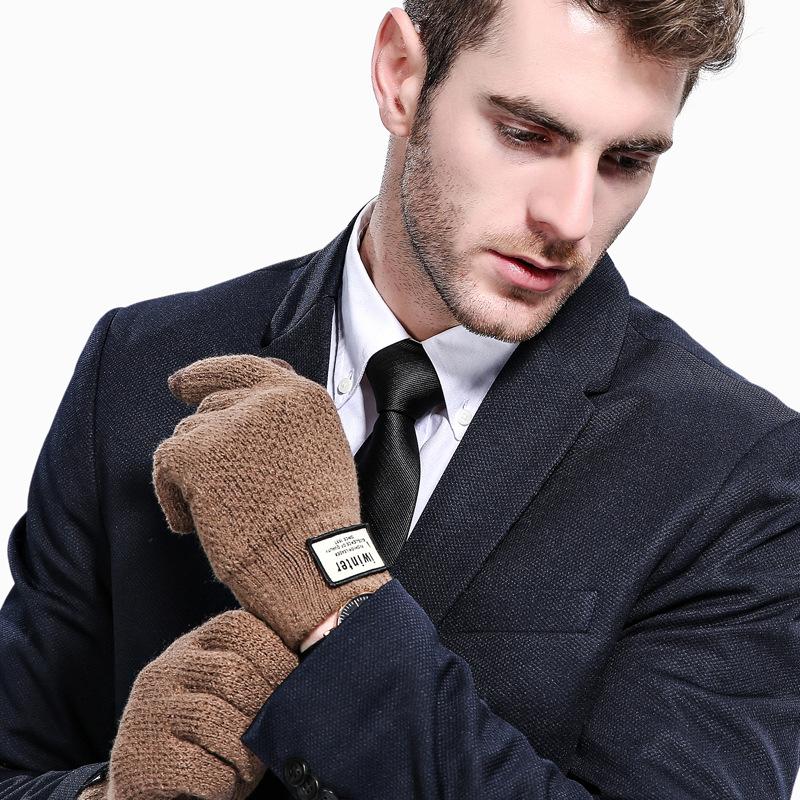 Фритюрница MILE Мужские зимние вязаные перчатки для сенсора (Фото 1)