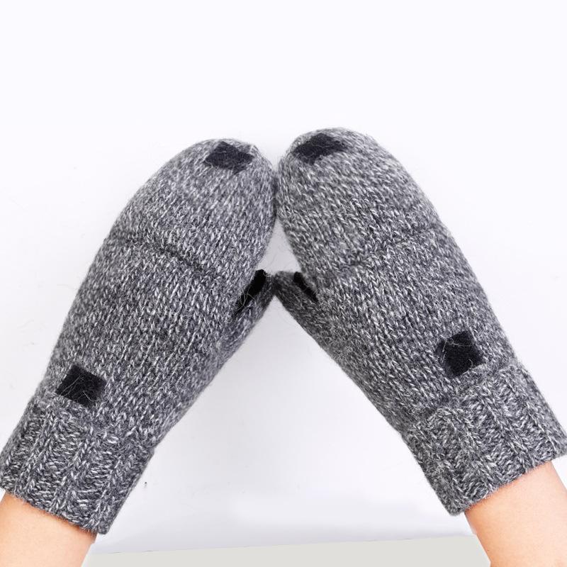 Фритюрница MILE Перчатки-варежки для мужчин и женщин из овечьей шерсти (Фото 4)