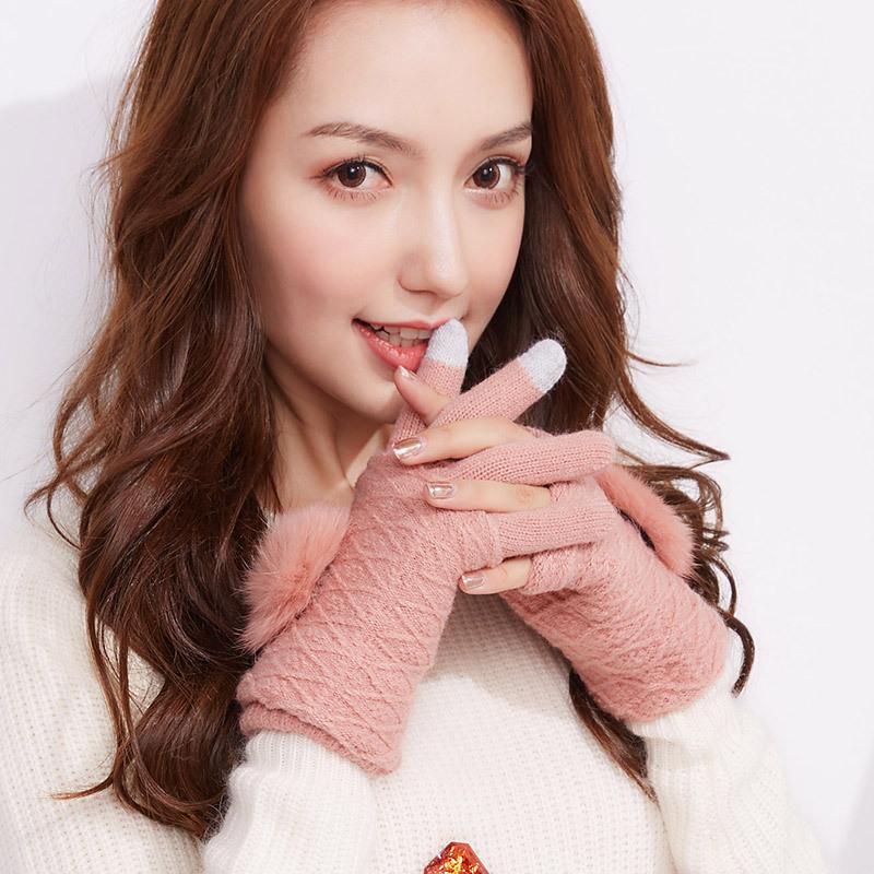Фритюрница MILE Женские перчатки для сенсора осень-зима (Фото 1)