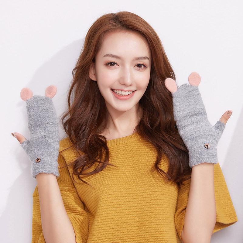 Фритюрница MILE Женские кашемировые перчатки без пальцев (Фото 4)