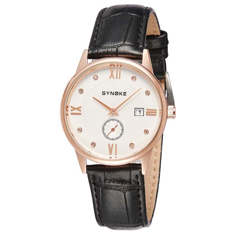 Фритюрница MILE Водонепроницаемые мужские кварцевые часы с кожаным ремешком (Фото 2)