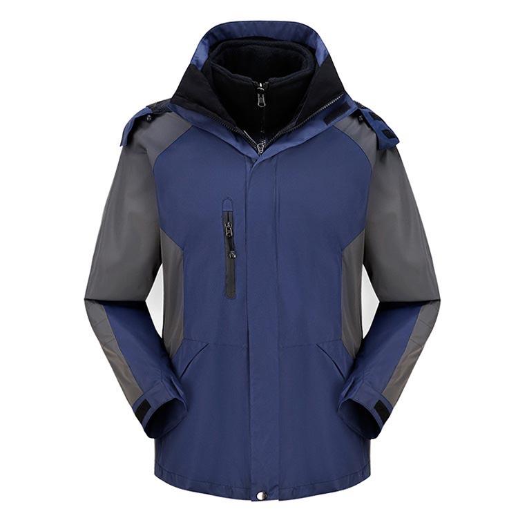 Фритюрница MILE Мужская двойная спортивная зимняя куртка из флиса (Фото 5)