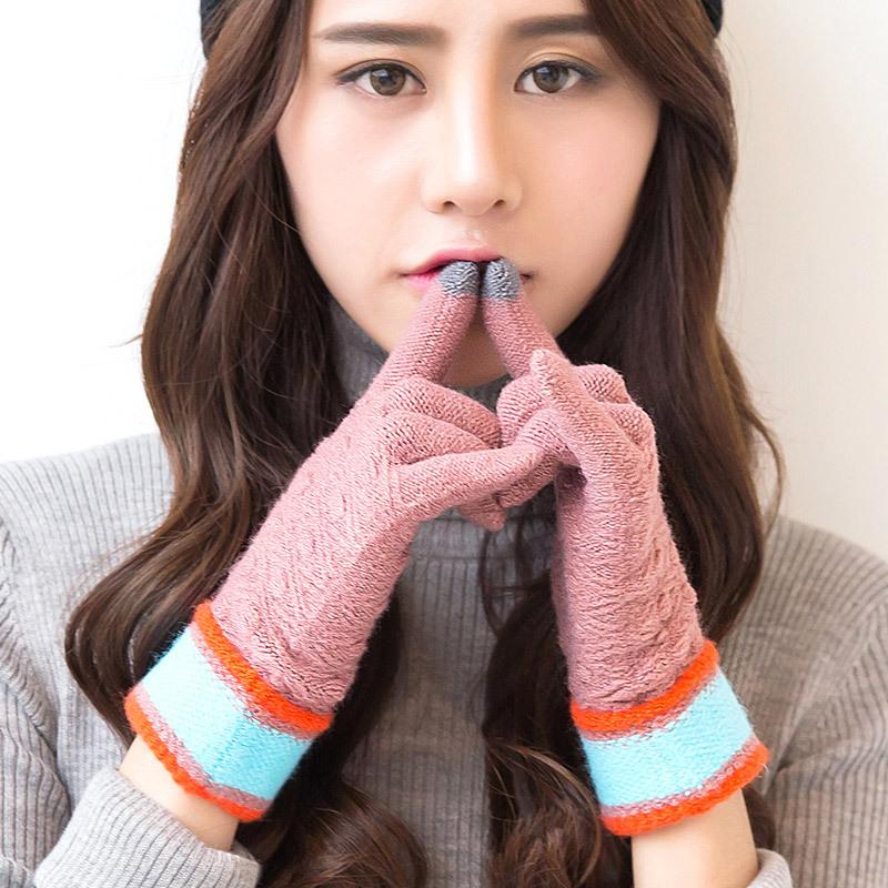 Фритюрница MILE Женские зимние вязаные перчатки для сенсора (Фото 3)