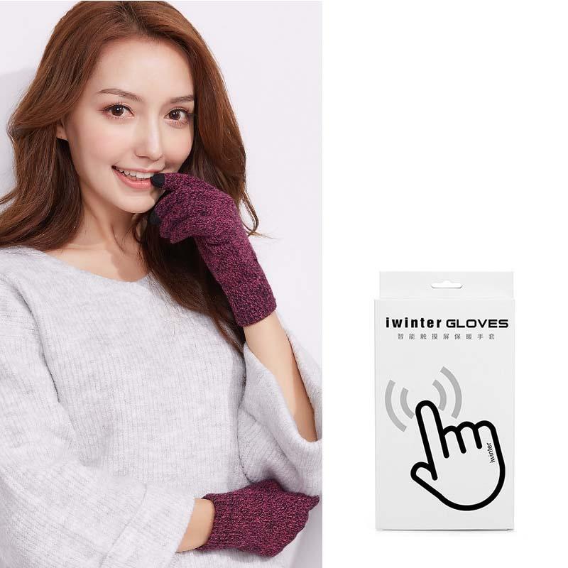 Фритюрница MILE Женские перчатки из флиса для сенсора осень-зима (Фото 3)