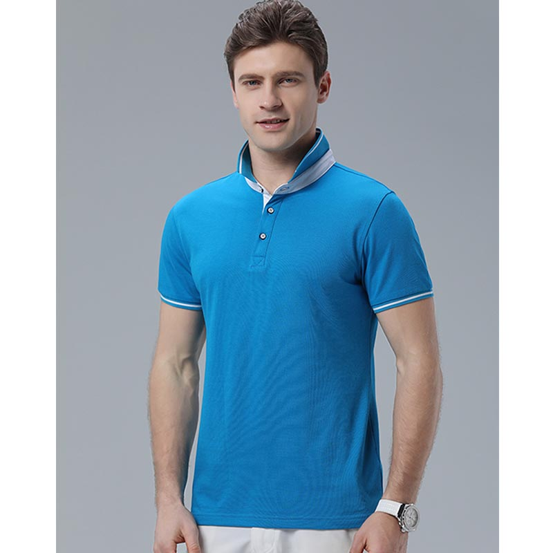 MILE Мужская футболка поло однотонная размер плюс