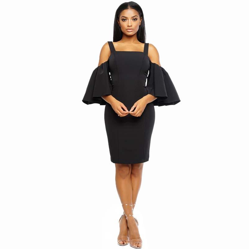 Фритюрница MILE Женское платье с рукавом 3/4 и открытыми плечами (Фото 5)