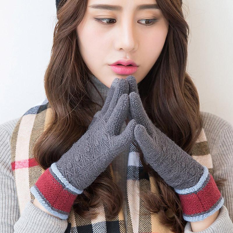 Фритюрница MILE Женские зимние вязаные перчатки для сенсора (Фото 1)