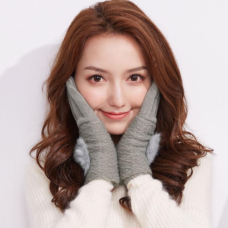 Фритюрница MILE Женские перчатки для сенсора осень-зима (Фото 3)