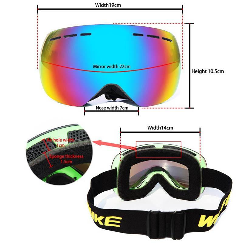 Горнолыжные аксессуары MILE Лыжные противотуманные очки UV401 (Фото 1)