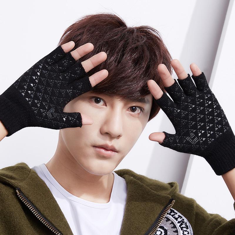 MILE Теплые вязаные перчатки без пальцев
