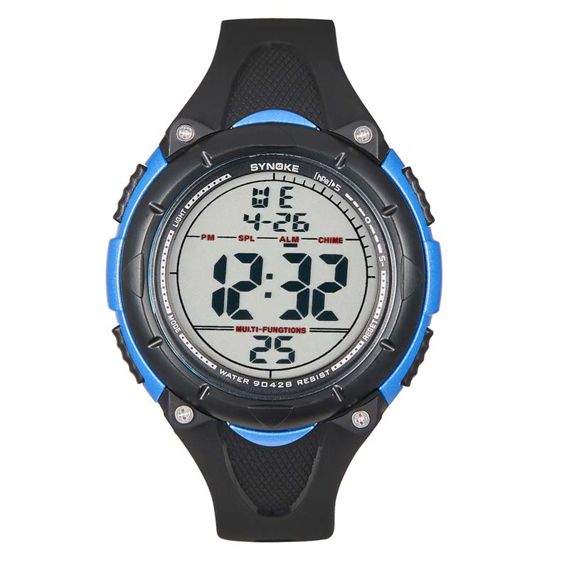 Фритюрница MILE Мужские цифровые силиконовые спортивные часы (Фото 3)