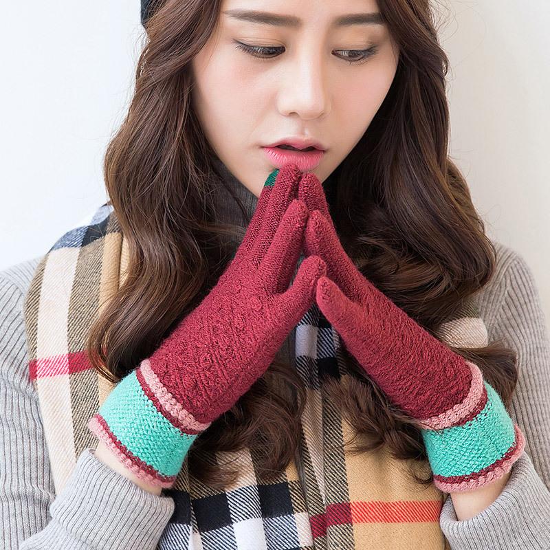 Фритюрница MILE Женские зимние вязаные перчатки для сенсора (Фото 6)