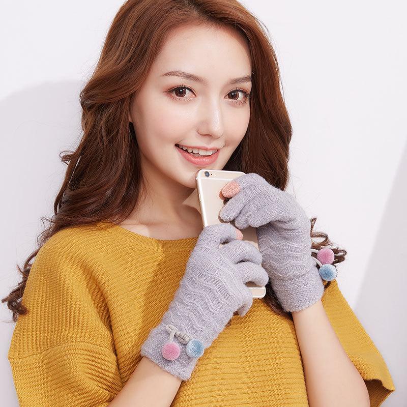 Фритюрница MILE Женские перчатки стрейч для сенсора (Фото 5)