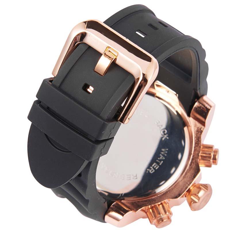 Фритюрница MILE Мужские водонепроницаемые часы с  PU кожаным ремешком (Фото 6)