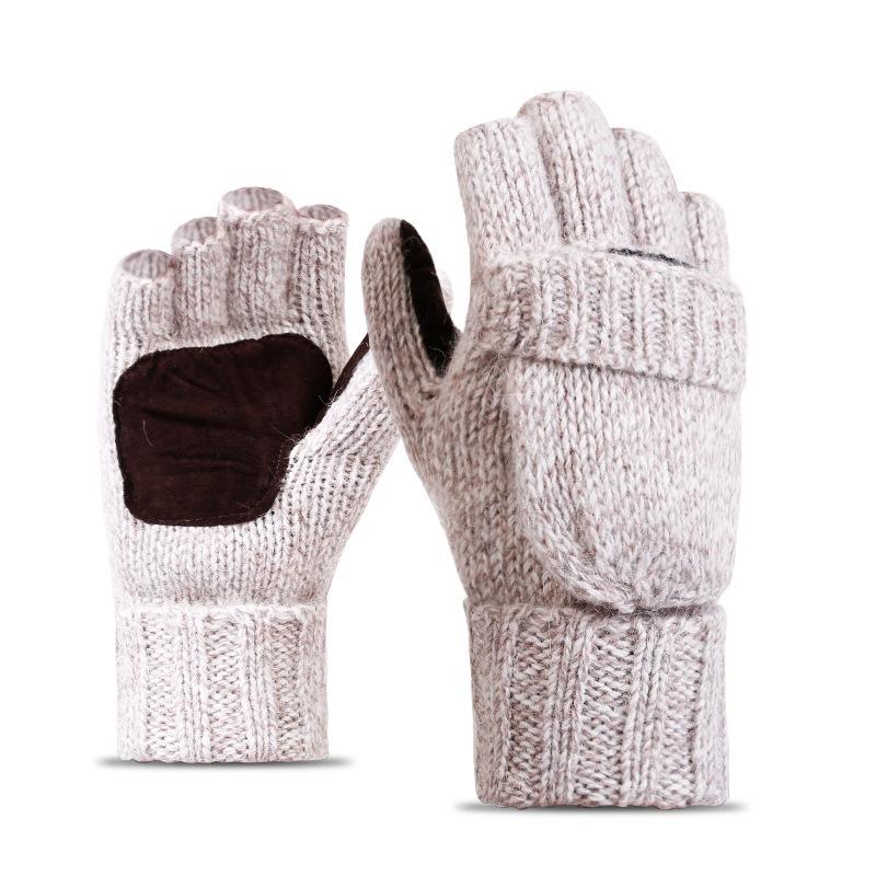 Фритюрница MILE Перчатки-варежки для мужчин и женщин из овечьей шерсти (Фото 1)
