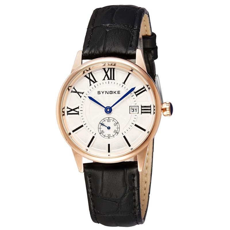 Фритюрница MILE Мужские кварцевые наручные часы с кожаным ремешоком (Фото 6)