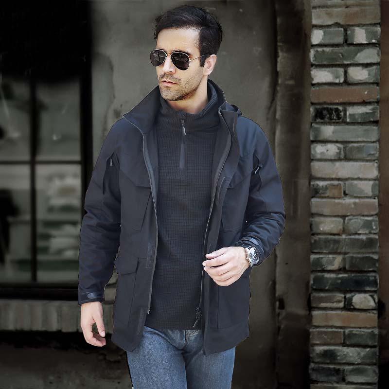 MILE Мужское тактическое пальто с капюшоном