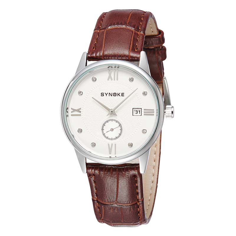 Фритюрница MILE Водонепроницаемые мужские кварцевые часы с кожаным ремешком (Фото 1)