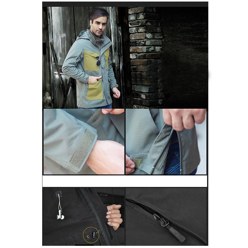 Фритюрница MILE Мужское тактическое пальто с капюшоном (Фото 4)