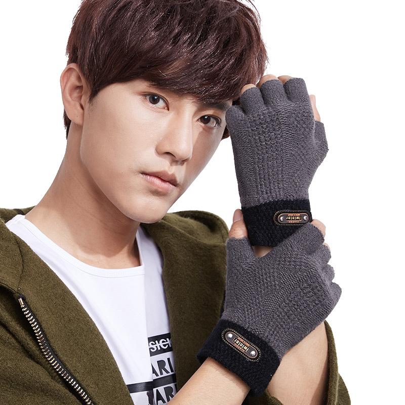 Фритюрница MILE Мужские зимние перчатки без пальцев (Фото 3)