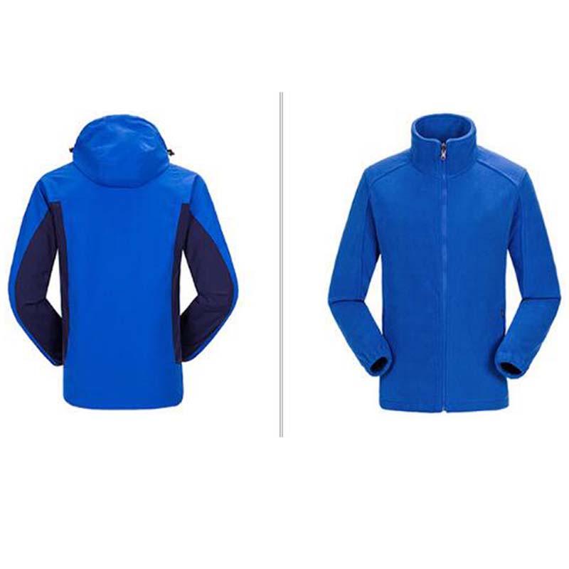 Фритюрница MILE Ветрозащитная водонепроницаемая мужская куртка из флиса (Фото 4)