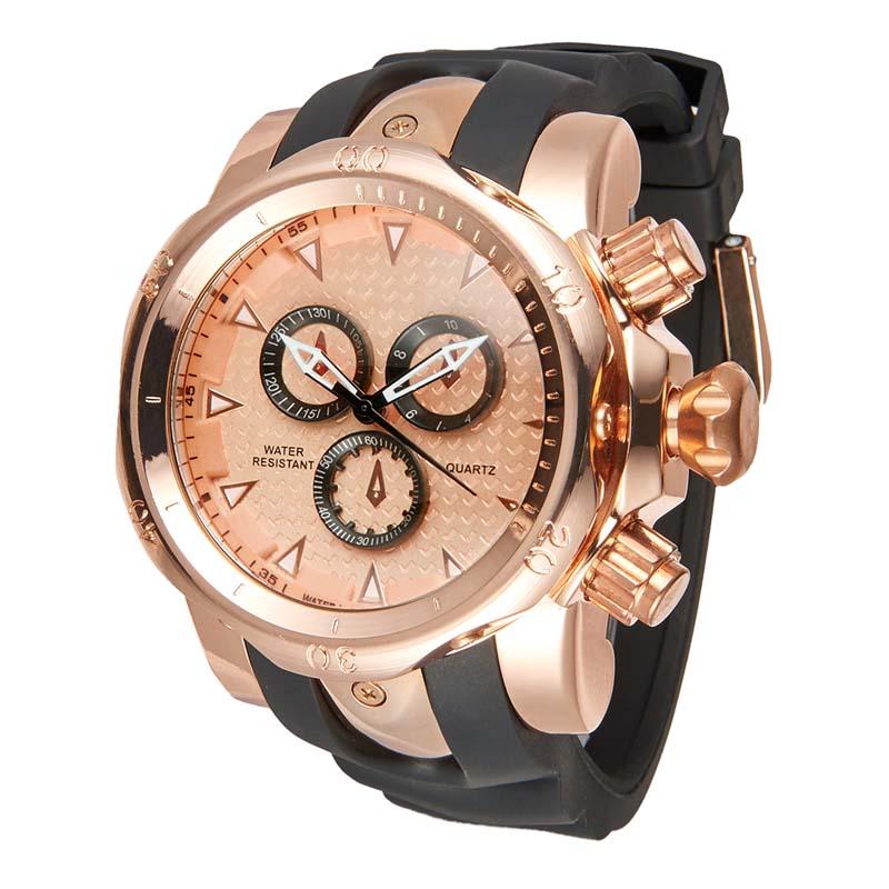 Фритюрница MILE Мужские водонепроницаемые часы с  PU кожаным ремешком (Фото 1)