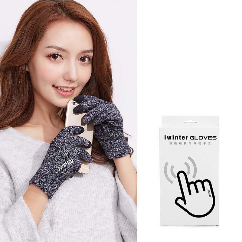 Фритюрница MILE Женские перчатки из флиса для сенсора осень-зима (Фото 4)