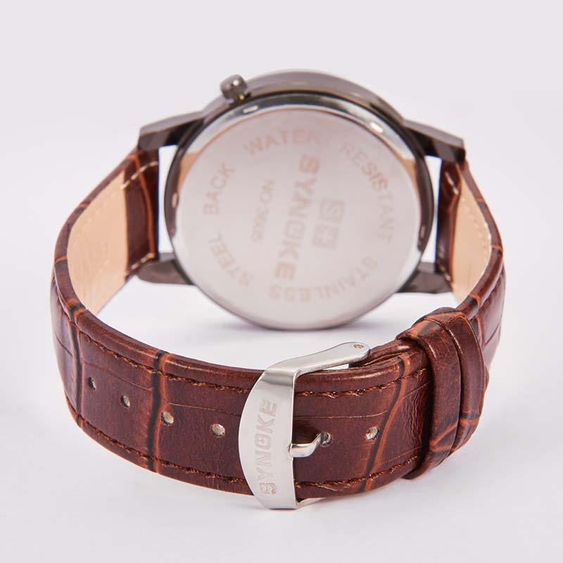 Часы Кварцевые наручные часы с кожаным ремешком (Photo 6)