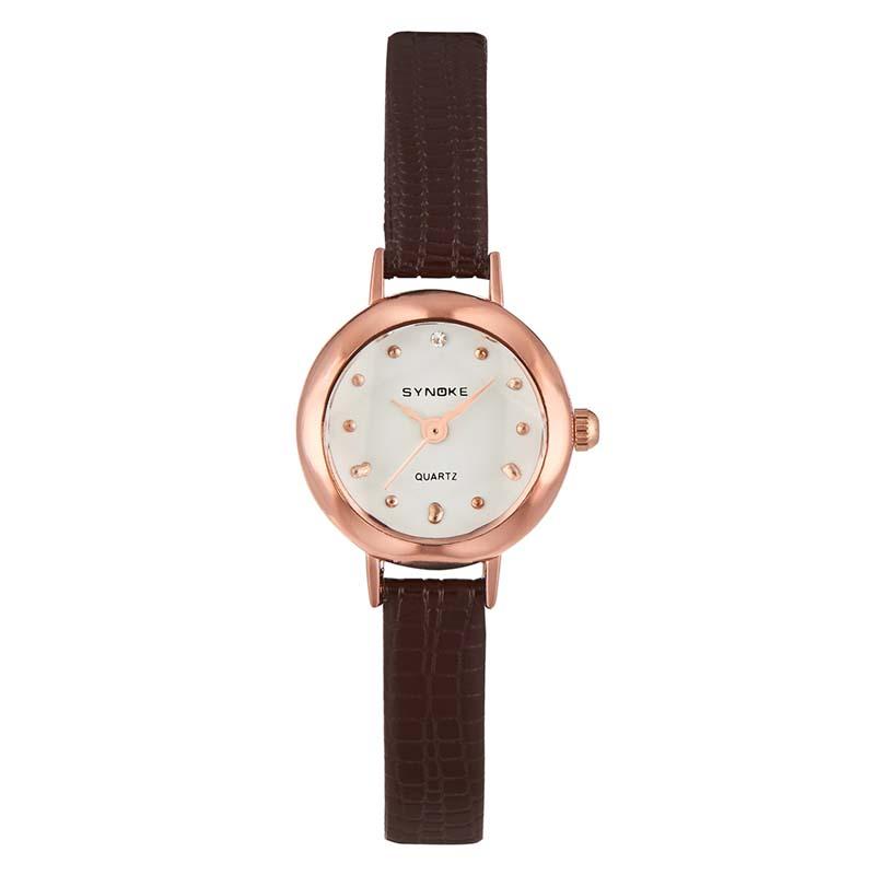 Часы Женские кварцевые наручные часы с кожаным ремешком (Photo 1)