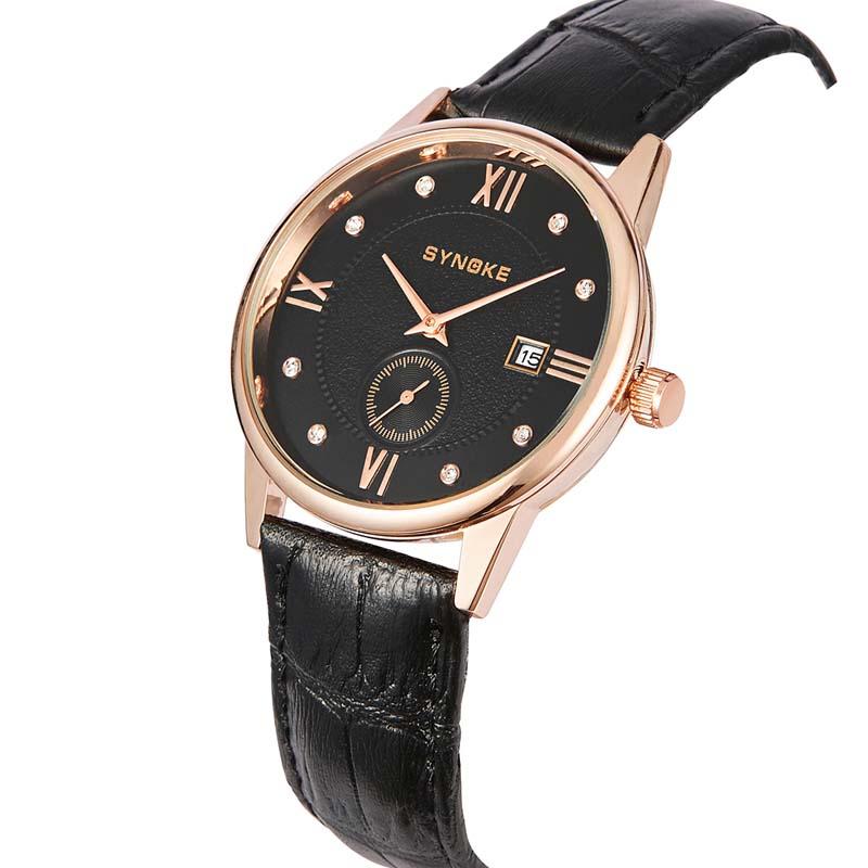 Фритюрница MILE Водонепроницаемые мужские кварцевые часы с кожаным ремешком (Фото 3)