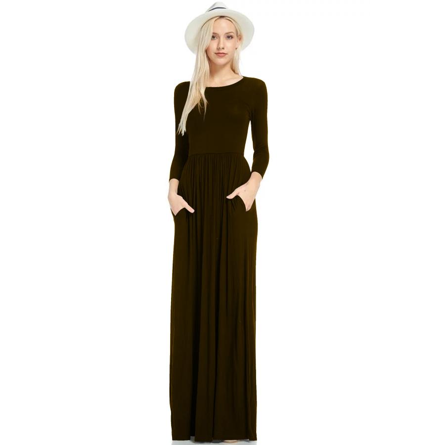 Фритюрница MILE Макси платье с длинным рукавом осень-зима (Фото 6)