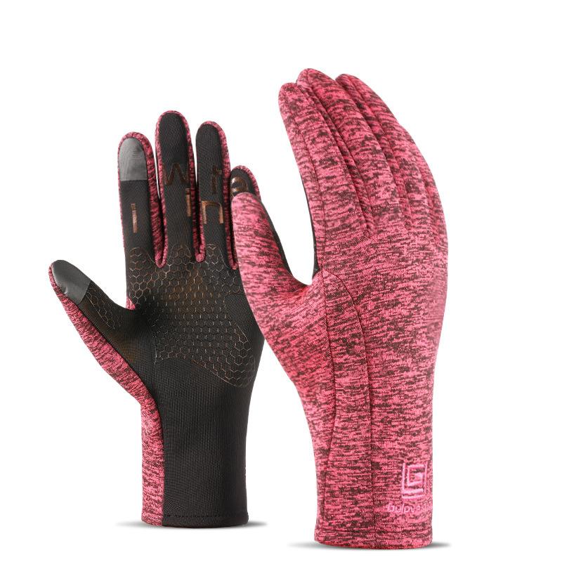 MILE Зимние спортивные антискользящие перчатки из флиса
