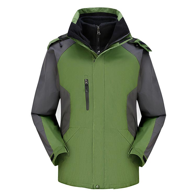 Спортивная мужская куртка 2 в 1 с флисовой подкладкой для альпинизма путешествий