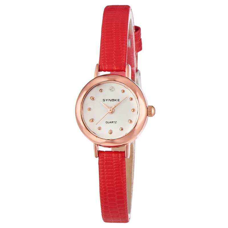 MILE Женские кварцевые наручные часы с кожаным ремешком