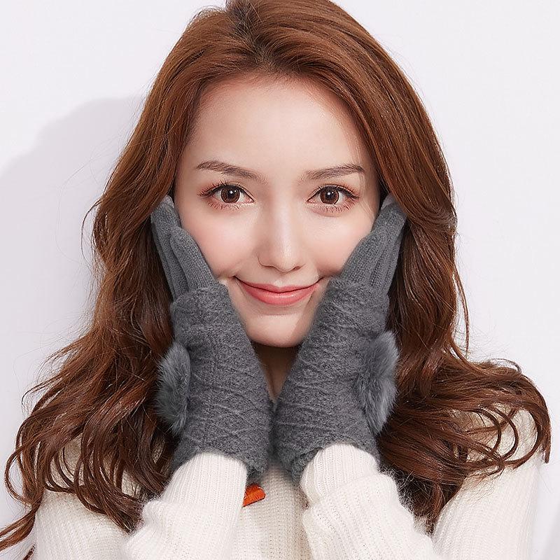 MILE Женские перчатки для сенсора осень-зима