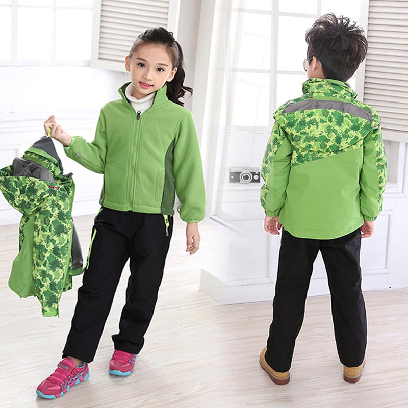 Фритюрница MILE Детская двойная спортивная куртка из флиса (Фото 6)