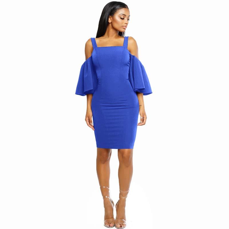 MILE Женское платье с рукавом 3/4 и открытыми плечами