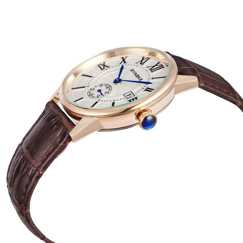 Фритюрница MILE Мужские кварцевые наручные часы с кожаным ремешоком (Фото 3)