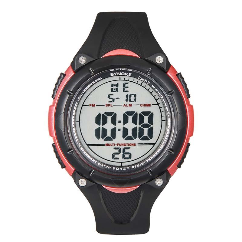 Фритюрница MILE Мужские цифровые силиконовые спортивные часы (Фото 5)