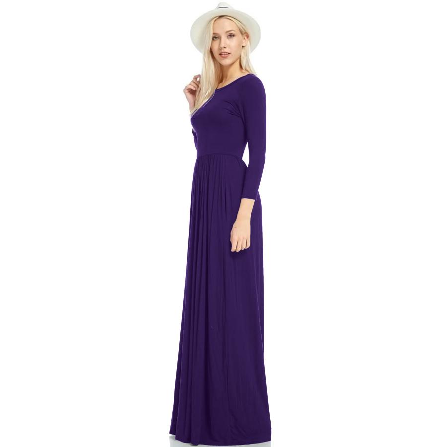 Фритюрница MILE Макси платье с длинным рукавом осень-зима (Фото 3)
