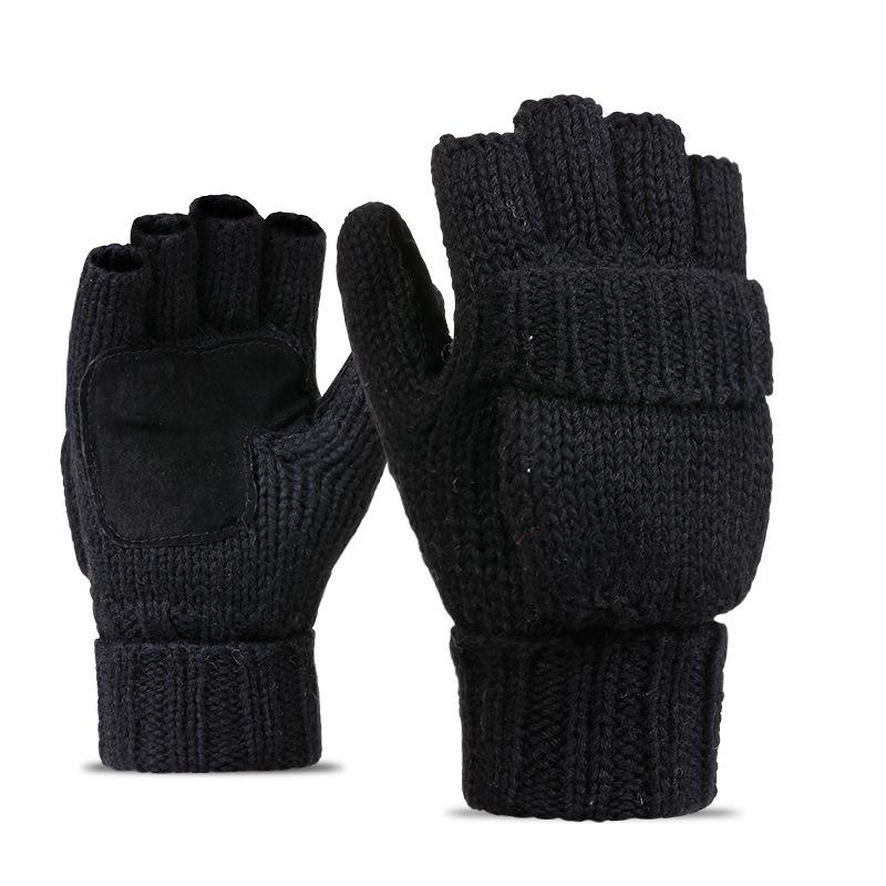 Фритюрница MILE Перчатки-варежки для мужчин и женщин из овечьей шерсти (Фото 6)