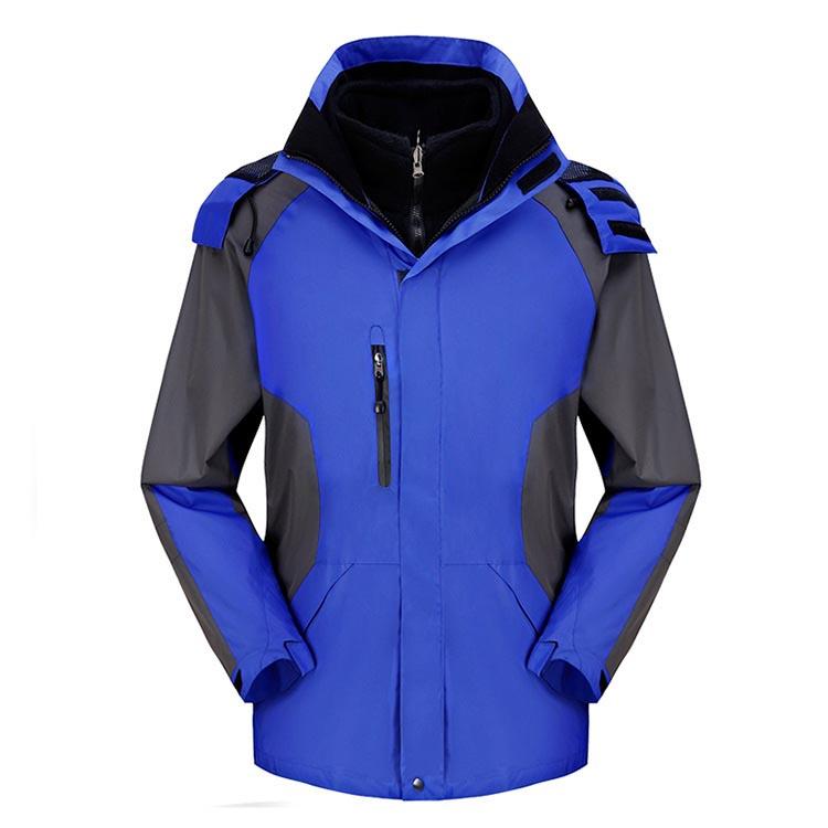 MILE Мужская двойная спортивная зимняя куртка из флиса